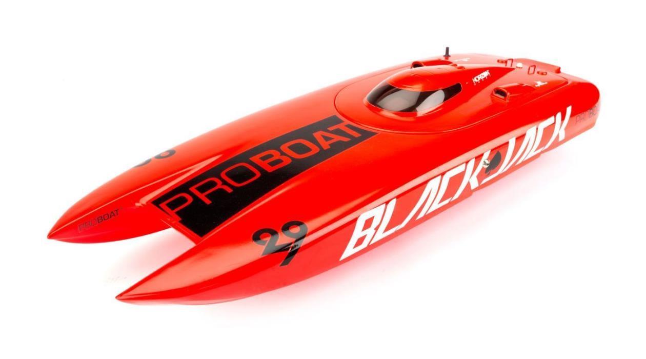 Pro Boat Blackjack 29 Catamaran R/C Boat Hull And Canopy Orange PRB4085