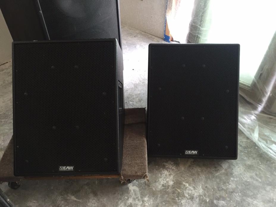 EAW SM155e stage monitors