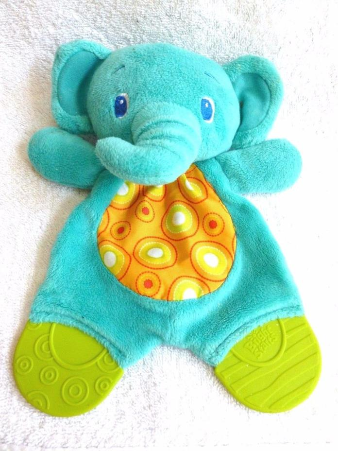 Bright Starts Crinkle Elephant ~ Blue Plush Teether ~ Lovey Security Blanket