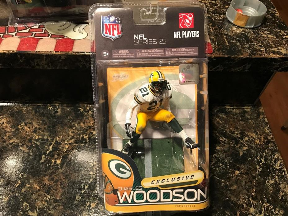 McFarlane NFL 25 Charles Woodson (Green Bay Packers) White Jersey Exclusive MIMP