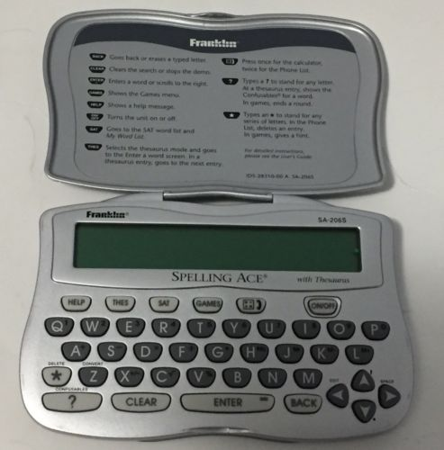 Franklin Spelling Ace & Thesaurus SA-206S Vocabulary Builder