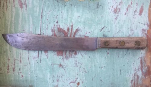 Vintage Shapleigh's Hammer Forged Old Hickory Butcher knife 9