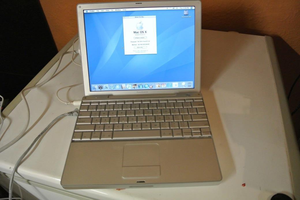 Apple PowerBook G4 12 Inch 867MHz 384MB RAM 60GB HDD OS X 10.4