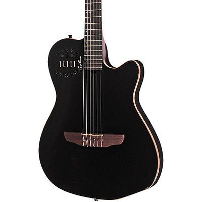 Godin ACS-SA Slim Nylon String Cedar Top AE Black Pearl