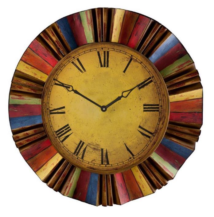 Boston Loft FUrnishings Fiesta Wall Clock Round Indoor Design Analog Standard