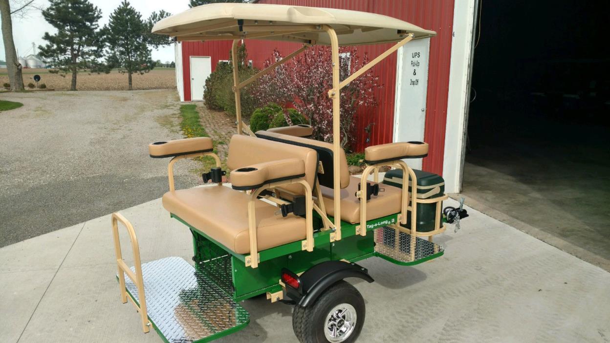 yamaha club car custom built 4 person Golf Cart trailer  pull behind Tag-a-long