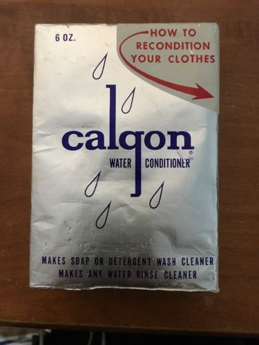 New Vtg 1950s Calgon Water Conditioner Laundry Soap Additive Unused Unopened