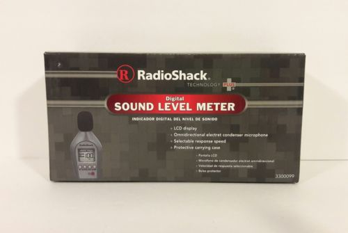 Radio Shack Digital Sound Level Meter 3300099 LED Display W/Case