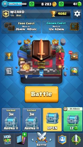 Level 11 clash royale account 70-71 cards found 100 or best offer