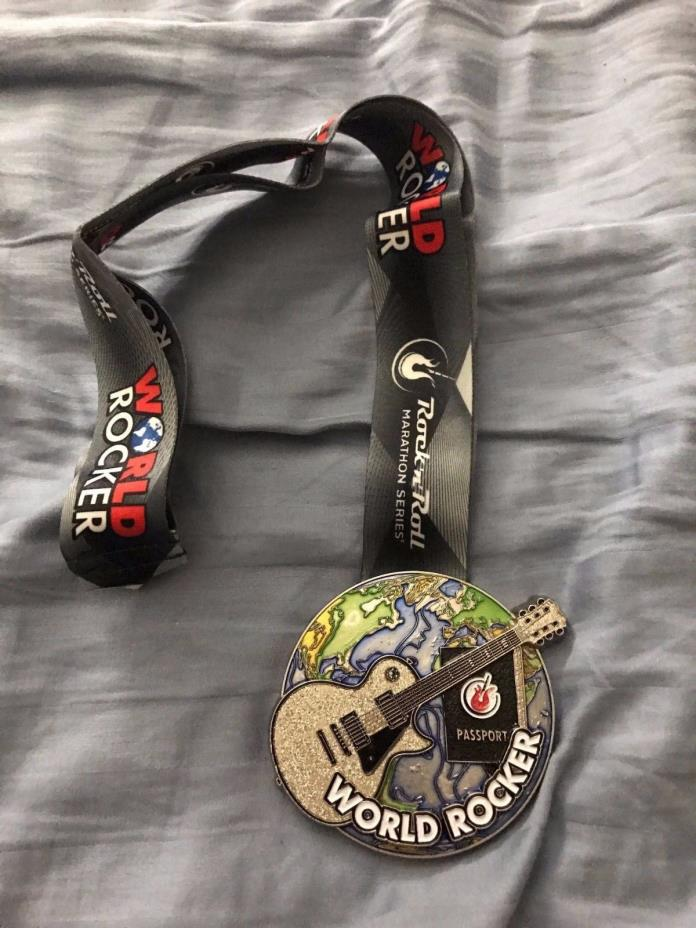 Rock N Roll RNR World Rocker Medal - 2016 Half Or Full Marathon