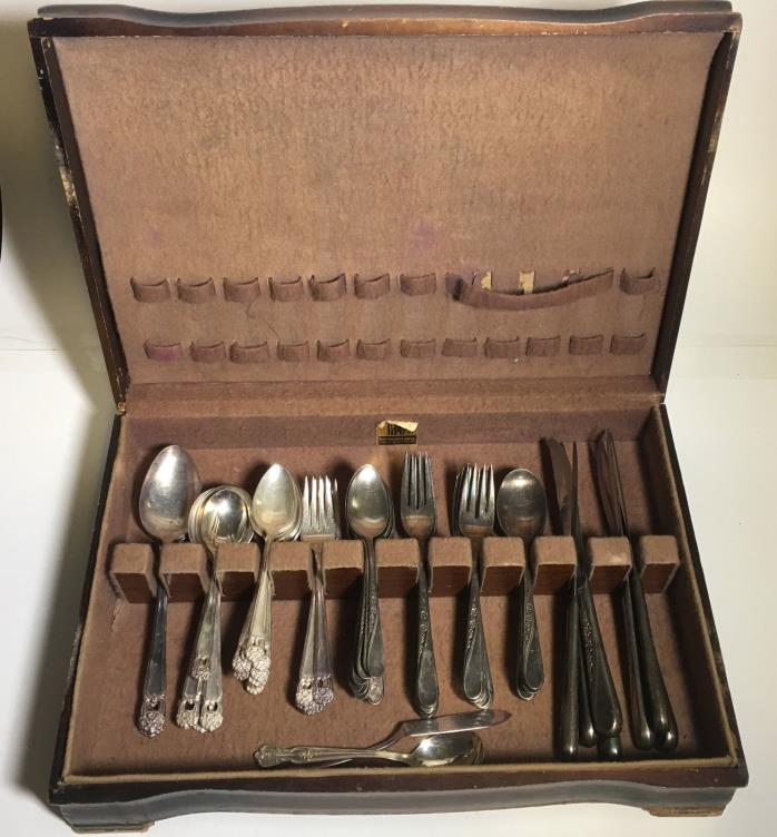 Vintage - Rare Antique 1847 Rodgers & Bros Stainless Steel Silverware Set