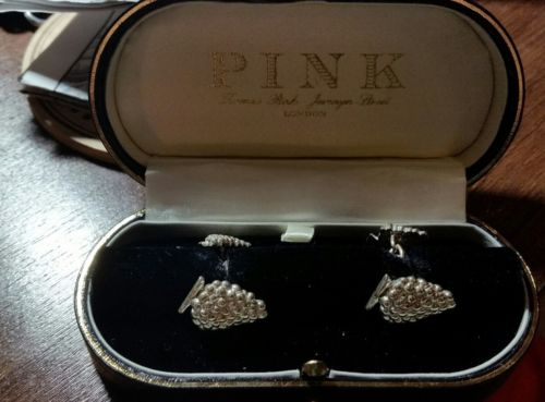 Thomas Pink Cufflinks - Bunches Of Grapes With FREE SHIPPING