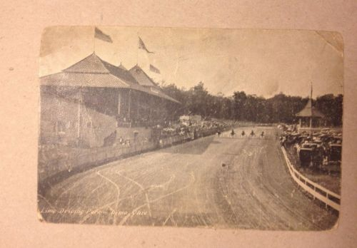 1907 Postcard Lima Driving Park Lima Ohio Harness Racing Horses Det & Cin RPO