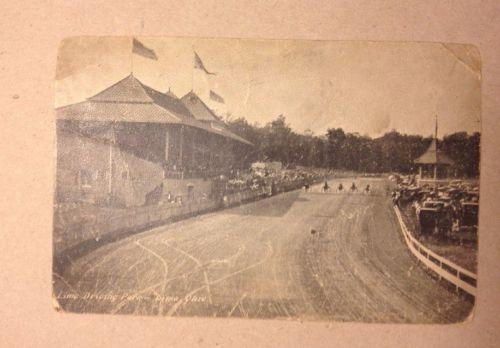 1907 Postcard Lima Driving Park Lima Ohio Harness Racing Horses Det & Cin RPO
