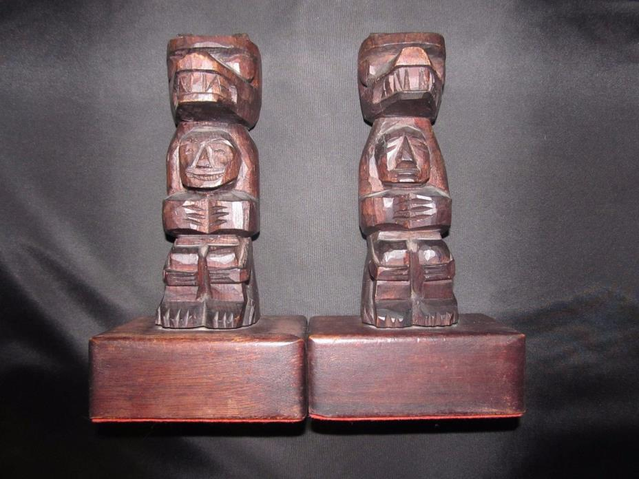 Neel Hand Carved Totem BookEnds
