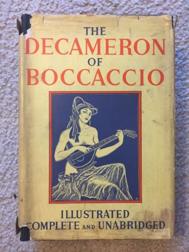 The Decameron of Boccaccio, HC/DJ The Bibliophilist Society, Undated 1930's