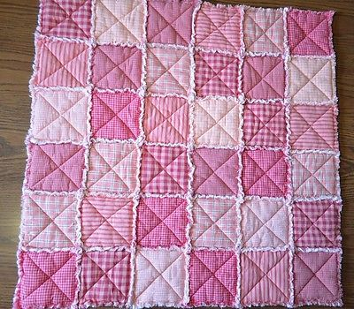 Homemade Rag Quilt Pink Size 32