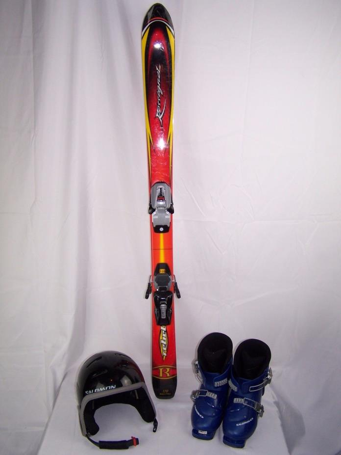 Lot of 6 Rossignol Rebel Skis Salomon Boots XS Helmet Youth BURTON LUGGAGE Bag