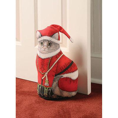 St. Nicholas Kitty Christmas Doorstop - Christmas Home Décor