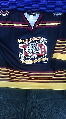 Chicago Wolves 10th Anniversary AHL Mens Hockey Jersey