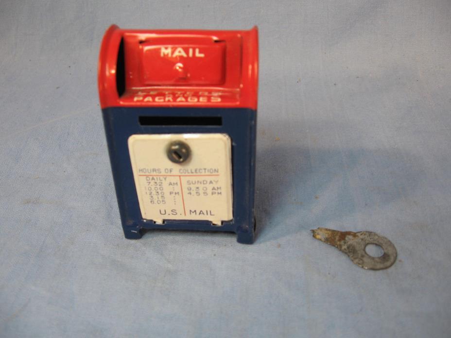 Small Tin Post Office Box Bank from Japan