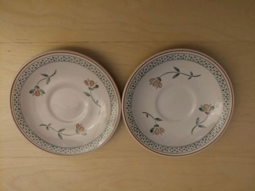 ???Johnson Bros, Staffordshire Old Granite Fruit Sampler,Bread Saucer Set of 2??
