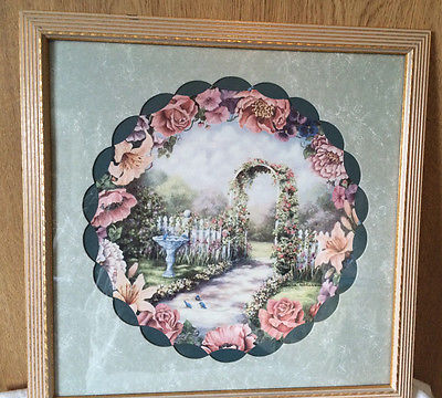 Home Interior HANGING PICTURE Wall Decor Floral Garden Donna Richardson