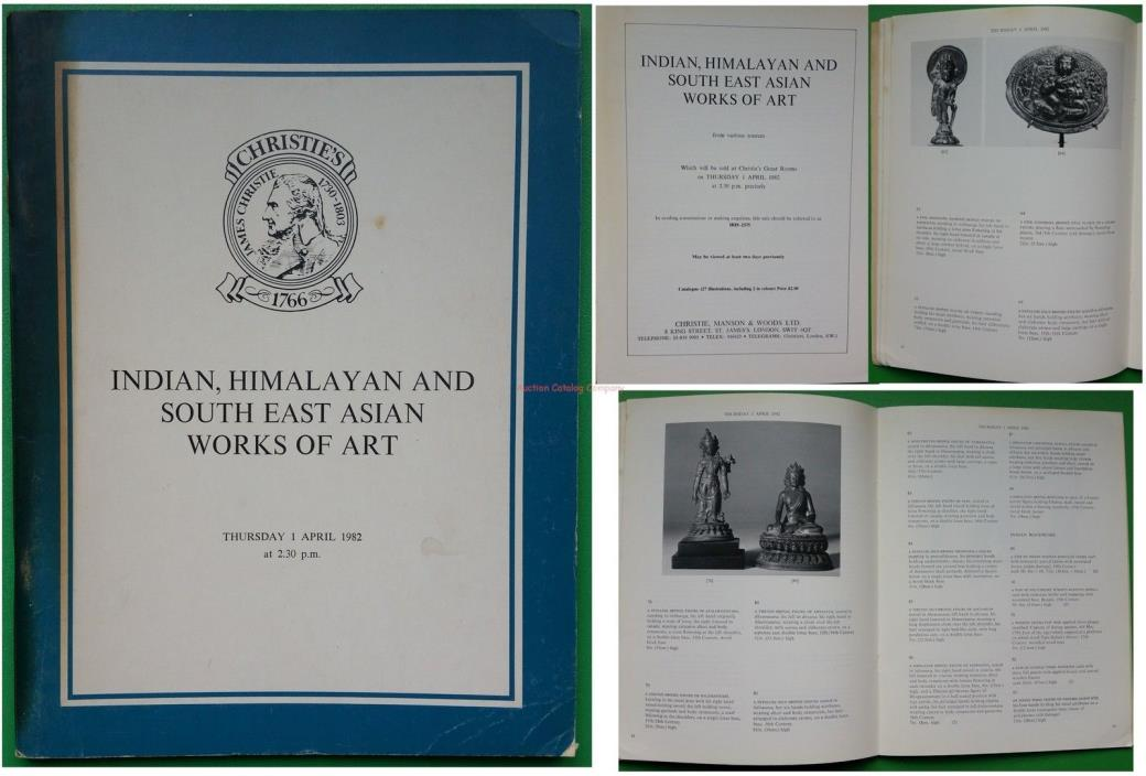 Christies London catalog Indian, Himalayan & Southeast Asian Works of Art 1982