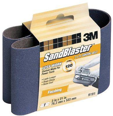 3M SandBlaster 9191NA 3-Inch by 21-Inch 120-Grit Sanding Belt