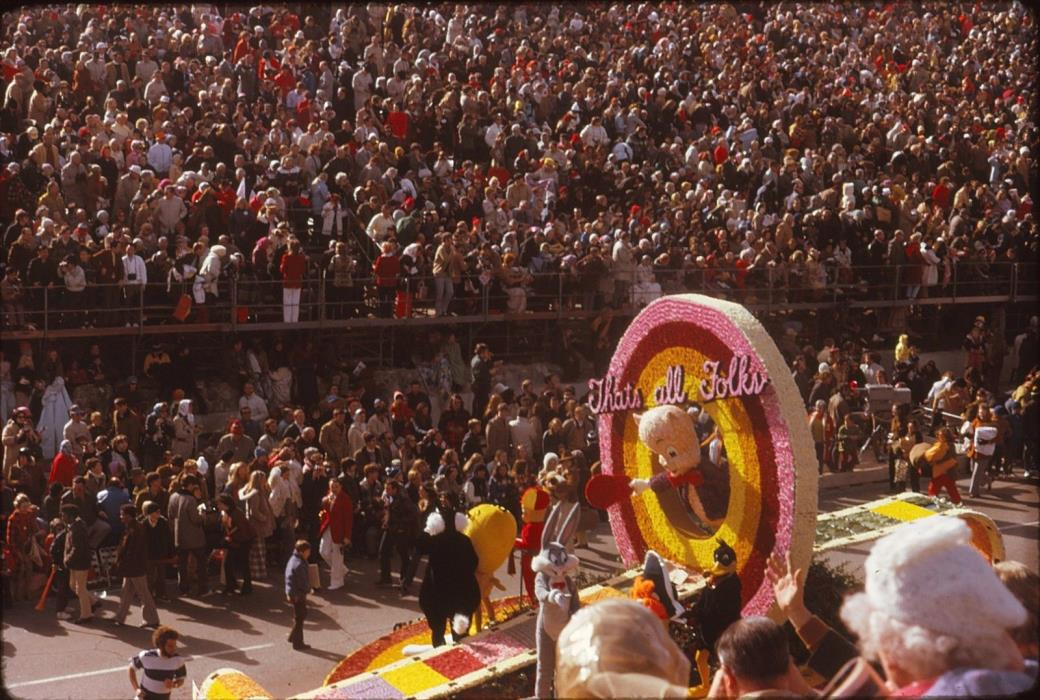1974 Rose Bowl Parade Pasadena California Picture Photo Slide 65 Looney Tunes