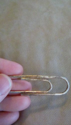 Vintage Sterling Silver Tiffany Large Paper Clip 8 grams .75
