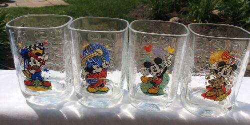 4- Walt Disney World Mickey Mouse Millennium 2000 Glasses McDonalds