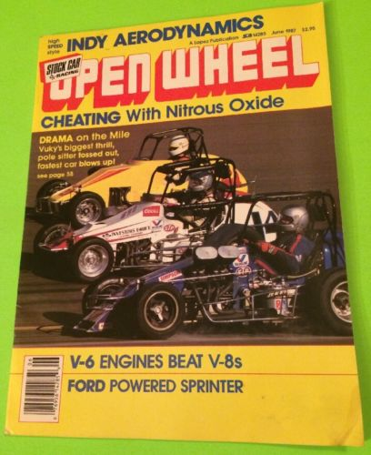 OPEN WHEEL STOCK CAR RACING MAGAZINE, JUNE 1987, RACE CARS, DIRT CARS, INDY