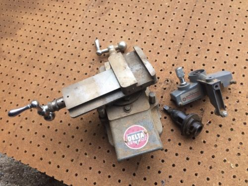 Rockwell Delta Milwaukee Wood Lathe Compound Slide Rest Metal Turning Plus Extra