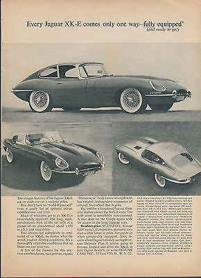 Original Jaguar XKE Magazine Ad March 1963