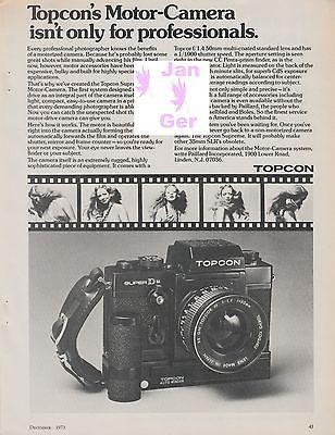 Topcon/Petri - Super Dm/FTEE Cameras  - Original Magazine Ad - 1973