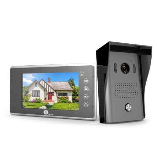 [Upgrade Version]1byone 7-Inch Color LCD Touch Screen Wired Video Doorbell, With
