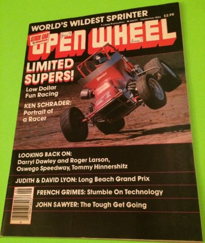 OPEN WHEEL STOCK CAR RACING MAGAZINE,SEPTEMBER 1984,RACE CARS,DIRT CARS,INDY