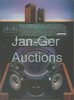 Bose - 601 Series II Speakers  - Original Magazine Ad -  1981