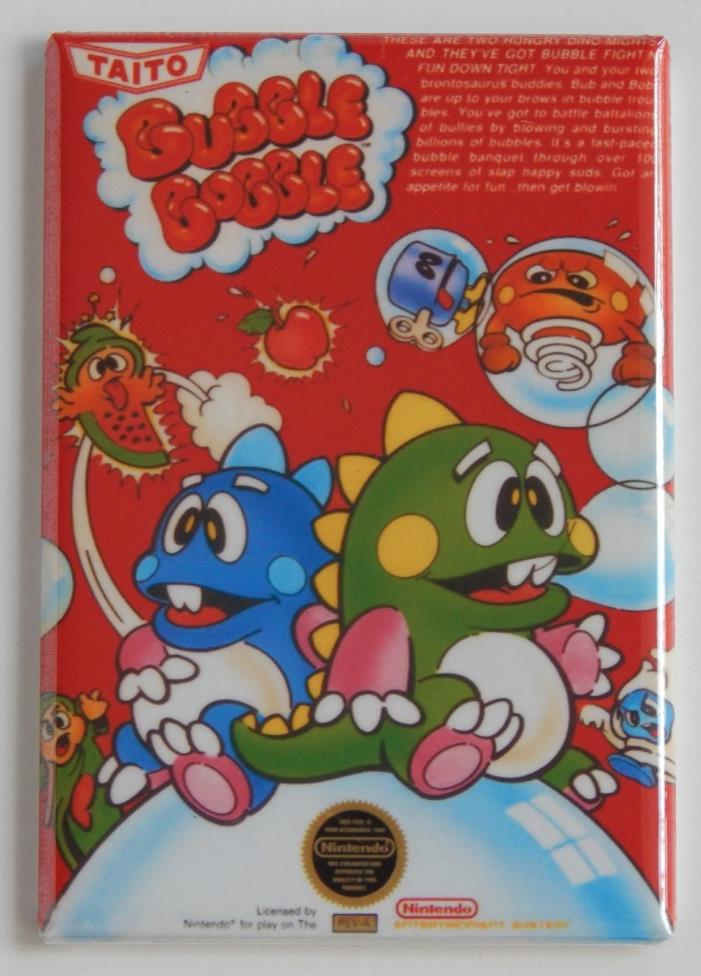 Bubble Bobble FRIDGE MAGNET (2 x 3 inches) video game box nes