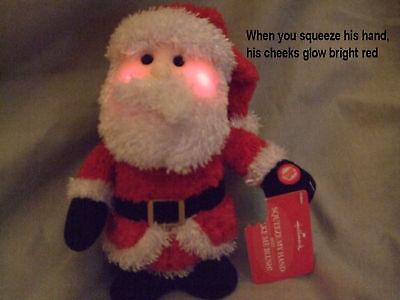 HALLMARK CHRISTMAS DECORATION:  STUFFED BLUSHING SANTA