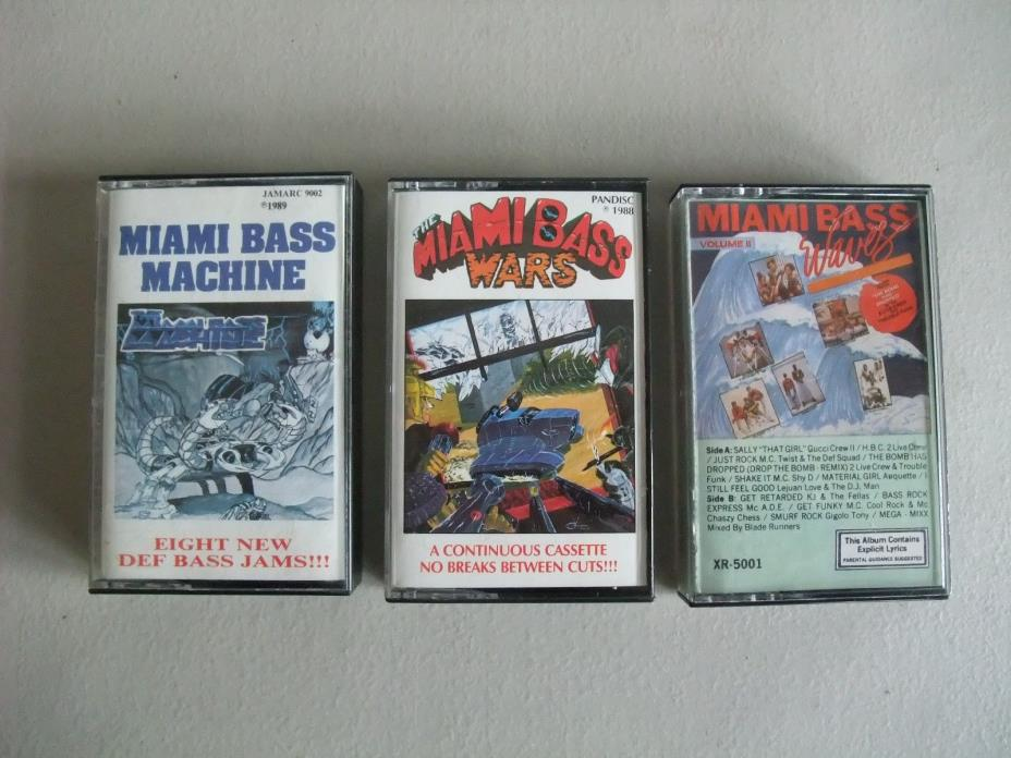 Miami Bass Waves, Wars, Machines Cassette Lot of 3