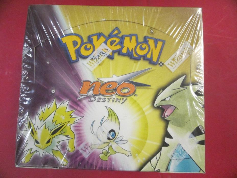 pokemon neo destiny factory sealed box