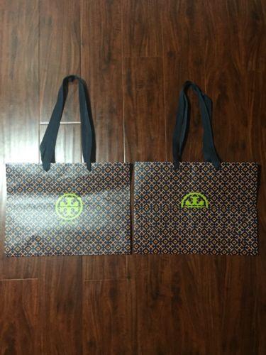 Tory Burch Paper Retail Shopping Bag 15x11.5x6 (Lot Of 2)