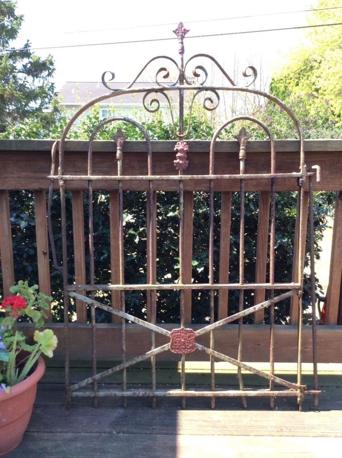 Antique Victorian Wrought Iron Gate