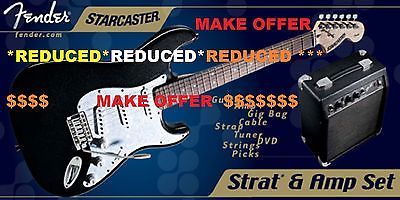 NEVER OPENED FENDER STARCASTER ELECTRIC GUITAR PACKAGE WITH AMP