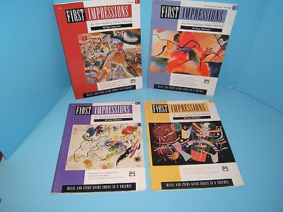 First Impressions M'lou Dietzer Piano Method Books/Study Guides Lot of 4