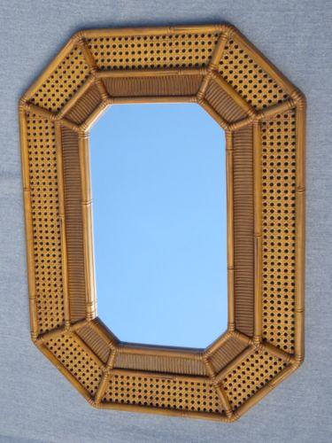 HOMCO Home Interiors Bamboo Wall Mirror 30x22  Home Accent Decor