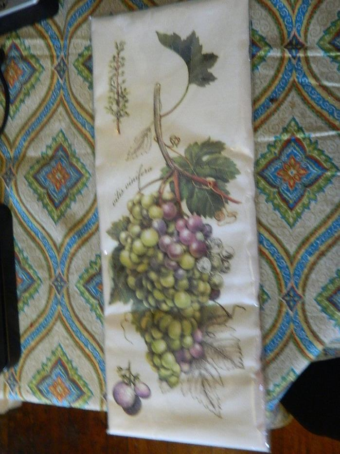Botanical Grapes Decorative Kitchen Flour Sack Towel-By Mary Lake Thompson 30x30