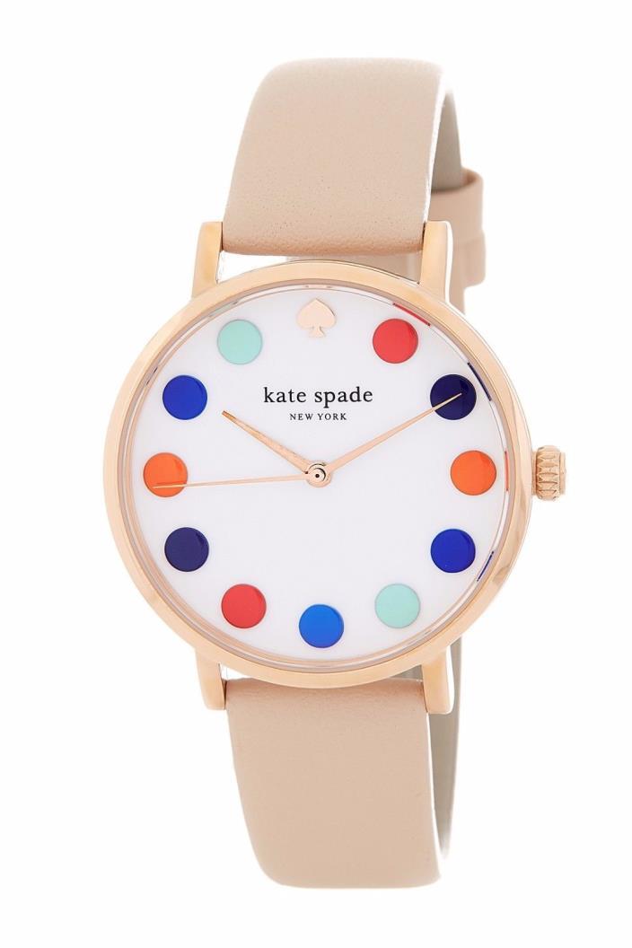 Kate Spade New York Women's Rose Gold Multi Dot Metro Watch 1YRU0735 NEW